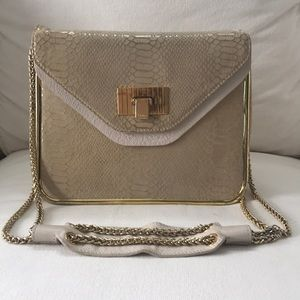 Large Chloe Sally Python Handbag in Cream